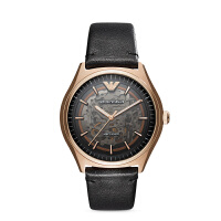 Armani阿玛尼经典镂空机械表男潮 防水时尚皮带男款手表AR60004