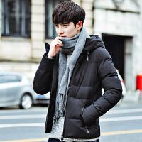 棉衣男士外套冬季新款连帽韩版帅气棉袄冬装加厚保暖