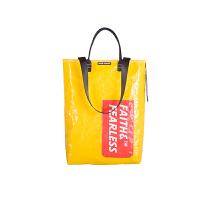 FAITH&FEARLESS潮牌包包女 2017新款街头健身潮包手提袋FF-TOTESN5 黄色红标 现货