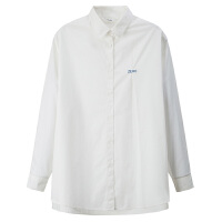 【限时抢购价109元包邮】唐狮2019春季新款白色女衬衫韩版印花宽松衬衣长