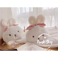 可爱兔子汽车头枕护肩套装车内装饰品安全带纸巾盒套枕腰靠
