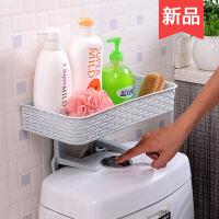 免打孔浴室置物架壁挂卫生间用品吸壁式吸盘厕所马桶塑料收纳架 图片色