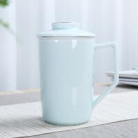 茶杯单个个人随手内胆过滤陶瓷带盖礼品杯办公室马克杯子 401-500ml