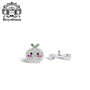 皇家莎莎S925银耳钉可爱耳钉女韩国简约气质耳环甜美耳饰个性首饰