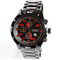 CURREN卡瑞恩8021赛车时尚男士手表 防水仿三眼男士腕表时尚设计