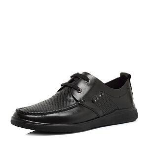 Teenmix/天美意2018夏专柜同款牛皮舒适平跟系带鞋男单鞋2GS01BM8
