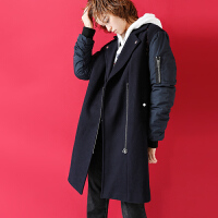【秒杀价:161.2元】初语毛呢外套女中长款冬装新款宽松加厚流行羊毛呢子大衣潮