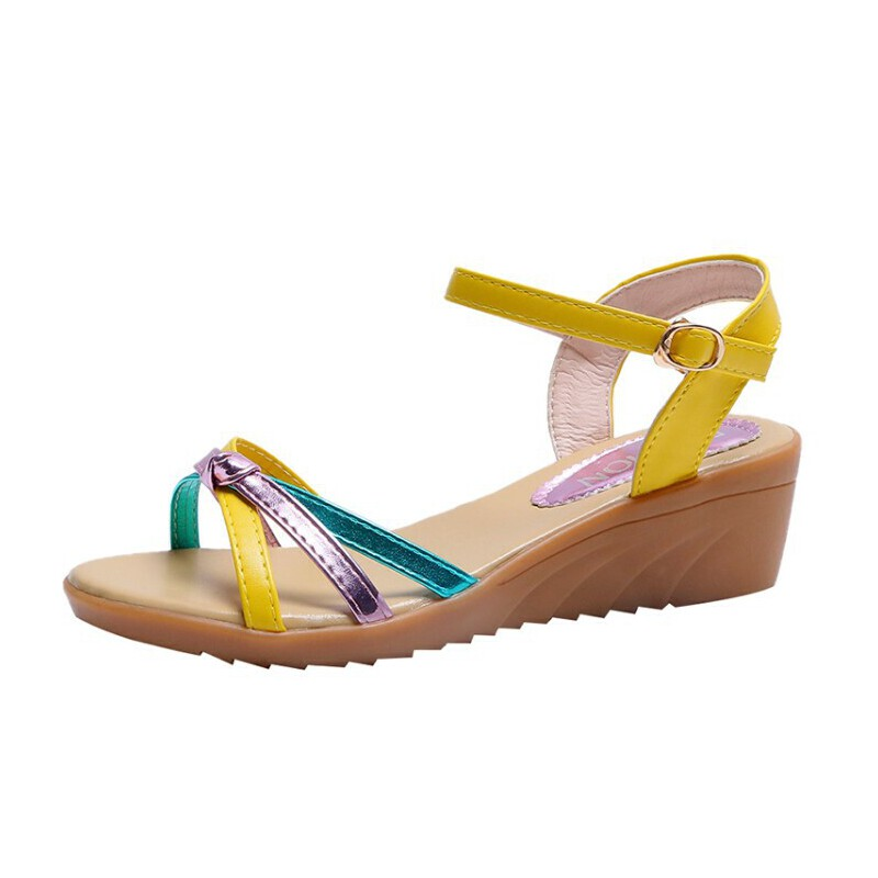 WARORWAR新品YN38-2699-1夏季韩版坡跟女凉鞋