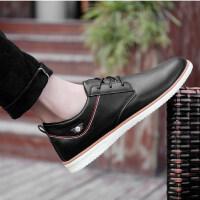 秋季男士商务休闲皮鞋青年防滑耐磨板鞋韩版英伦潮流百搭防水鞋子