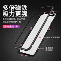 苹果6splus手机壳iphone6plus夜光i6潮男玻璃6s女新款六金属磁吸万磁王防摔6sp个性