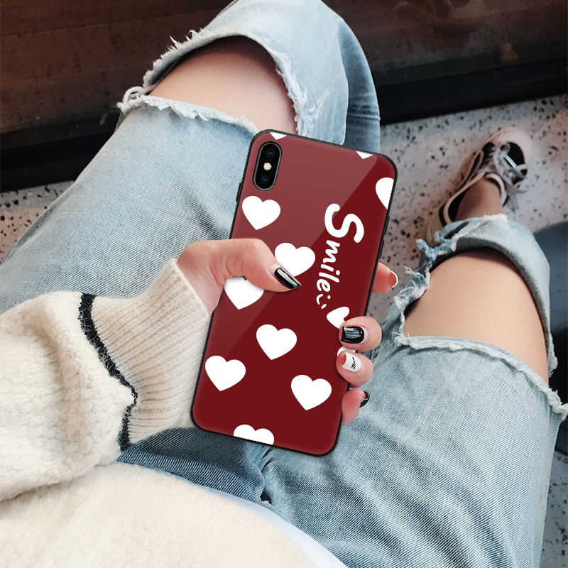 iphone苹果x手机壳xs女max玻璃xr八8七7六6s硅胶6镜面plus套全包防摔抖音网红同款i