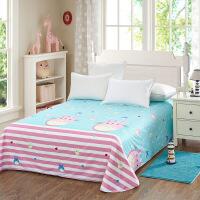 当当优品 纯棉斜纹床上用品 床单180*230cm 俏皮龙猫
