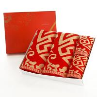 毛巾浴巾三件套婚庆红色礼盒套装结婚礼物回礼礼品红浴巾 喜临门2毛巾+2浴巾 礼盒
