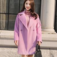 大衣女2018冬装新款韩版加厚中长款优雅显瘦毛呢外套