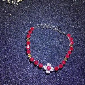 纯天然缅甸红宝石手链,奢华款,爆闪