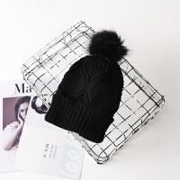 毛线帽子女冬天韩版针织可爱青年秋冬季女士潮百搭护耳帽保暖韩国LCQ M(56-58cm)