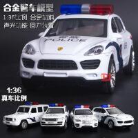 1:36合金回力奔驰G55双开门越野仿真车模型带声光儿童玩具警车