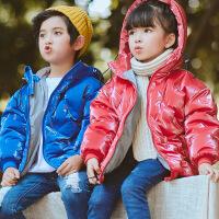 花样童依 儿童棉衣2018冬装新款中小童韩版羽绒服短款男女童外套棉袄