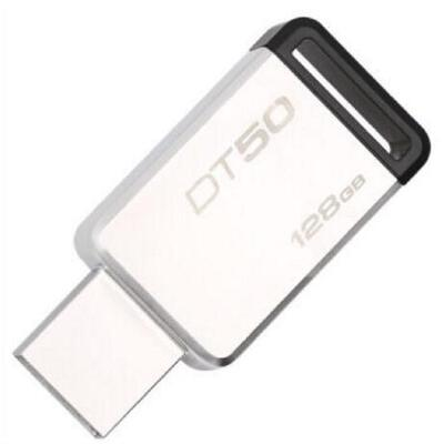 Kingston金士顿 USB3.1 128G 金属U盘 DT50 黑色