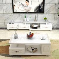 电视柜组合现代简约客厅小户型长方形创意钢化玻璃茶几 组装