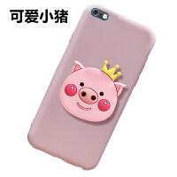 苹果6手机壳iPhone6s豆沙色保护套ip0ne防摔pg6纯色六软壳卡通