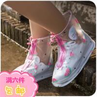 可爱防雨鞋套女士加厚底防滑耐磨雨天鞋防水鞋套脚套雨靴成人下雨