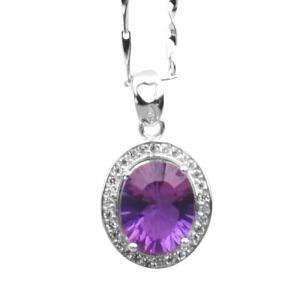 梦克拉 S925银紫水晶水滴吊坠 晶彩 可礼品卡购买