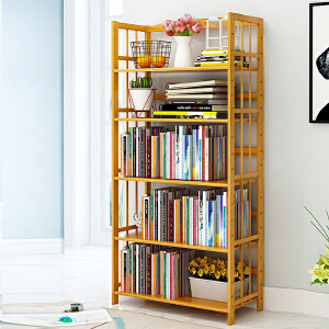幽咸家居 书架 书柜 置物架层架简约现代楠竹学生儿童书架 家庭小书架