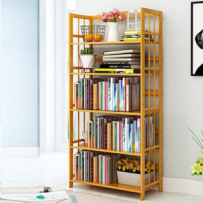 【每满100-50】幽咸家居 书架 书柜  置物架层架简约现代楠竹学生儿童书架 家庭小书架