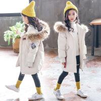 女童棉衣2018新款儿童秋冬装加厚棉袄大童洋气中长款女孩外套