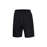 李宁运动裤男裤夏季舒适轻质透气短裤跑步健身运动短裤AKSM215