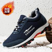 运动鞋 男士加绒保暖户外登山棉鞋子2020冬季男式学生加厚防滑跑步鞋雪地靴子