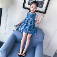 女童夏装新款洋韩版公主裙子中大童连衣裙女孩衣服