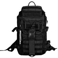 户外战术背包运动包轻便徒步登山包特种兵男迷彩双肩包军迷旅行包 黑色 收藏优先发货 40升(可装寸笔记本电脑)