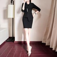 №【2019新款】冬天穿的女职业装裤裙时尚套装OL气质西服工装面试工作服两件套