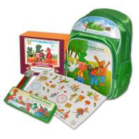 青蛙弗洛格大礼包 青蛙弗洛格的成长故事全12册 弗洛格卡通书包+弗洛格文具盒 6-7-10岁小学生课外阅读书籍 儿童经
