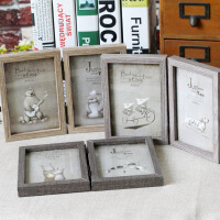 创意双面折叠卡通相框独特时尚个性相框相架家居装饰礼品