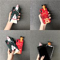 圣诞立体趴趴雪熊iPhone6s/7/8plus苹果XR全包软壳套潮女款XS max 苹果XS/XR/XS max新型