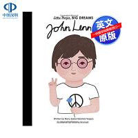 英文原版 小男孩,大梦想:约翰・列侬 John Lennon 绘本 Beatles 披头士 名人传记 Little Pe
