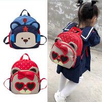 1-3岁男女宝宝幼儿园小书包 儿童包包时尚小熊双肩背包