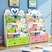 儿童书架落地简易置物架经济型学生宝宝书柜幼儿园小孩绘本收纳架o6a