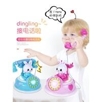 儿童复古卡通电话机玩具男孩女孩音乐宝宝婴儿早教益智0-3岁手机