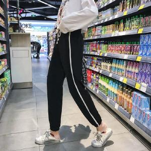 欧若珂      2018夏季新款韩版运动裤休闲裤九分裤hiohop裤女