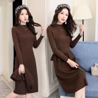 冬裙两件套中长款时尚韩版洋气2019春装新款女针织毛衣背心裙套装