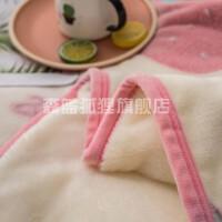 床上珊瑚绒绒毛毯毯子卡通个性毛绒双人森系午睡ins冬天铺床床单