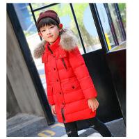 反季童装新款女童羽绒服中长款儿童加厚外套韩版中大童男孩大毛领