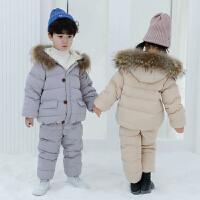 2018新款宝宝羽绒服套装男童装冬装两件套小童1-3岁5婴幼儿加厚潮