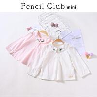 【3折价:32.7】铅笔俱乐部童装女小童针织衬衫儿童女宝宝衬衫2020春装装新款