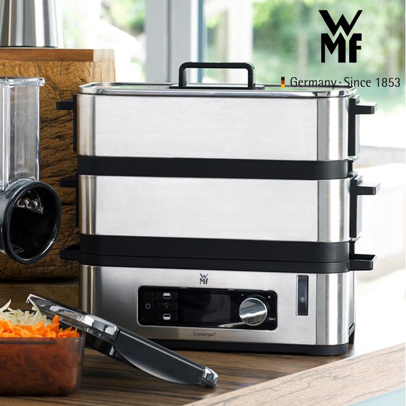 德国福腾宝WMF智巧电蒸炉家用2层蒸锅智能调节多功能电蒸锅 智能烹饪程序 保温功能 不串味