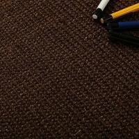地毯客厅卧室茶几阳台床边地毯榻榻米垫田园草编可定制咖啡色 Q115
